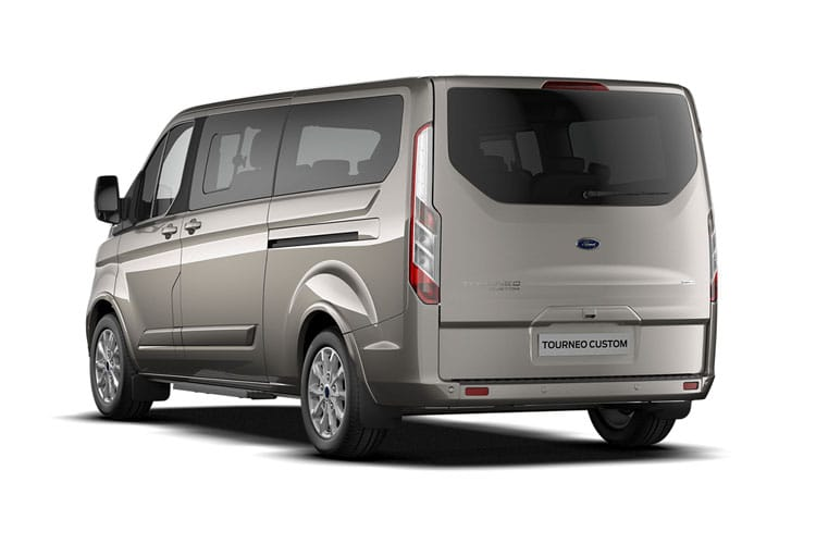 Ford Tourneo Custom 320 L1 M1 2.0 EcoBlue MHEV FWD 185PS Titanium X Minibus Manual [Start Stop] [8Seat] back view