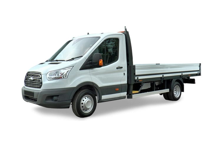 Ford Transit 350 L4 2.0 EcoBlue FWD 130PS Leader Premium Dropside Auto [Start Stop] front view
