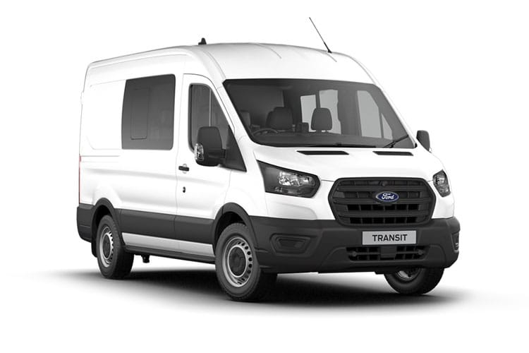 Ford Transit 350 L2 AWD 2.0 EcoBlue 4WD 130PS Leader Crew Van Medium Roof Manual [Start Stop] [DCiV] front view